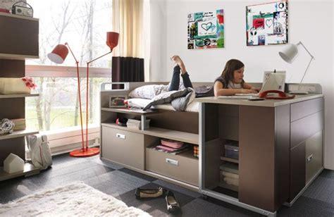 bureau ados lit pour adolescent avec rangement et bureau dimix gautier