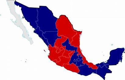 Svg Mexico War Civil Map Divisions Reforma