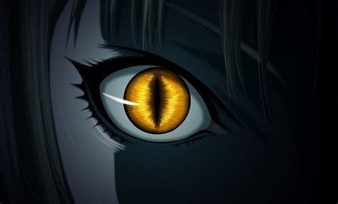 anime yellow eye evil hd wallpaper and background image