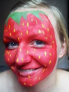 Karneval Gesicht Schminken : erdbeere schminken schminkanleitung ~ Frokenaadalensverden.com Haus und Dekorationen
