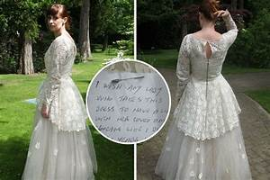 mystery man gives away wife39s 56 year old wedding dress With man forced into wedding dress