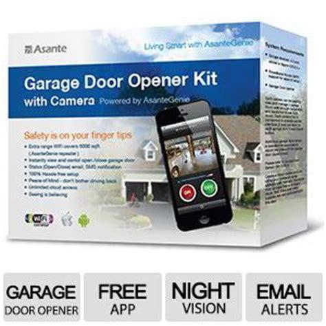 asante garage door opener with kit instantly view open your garage
