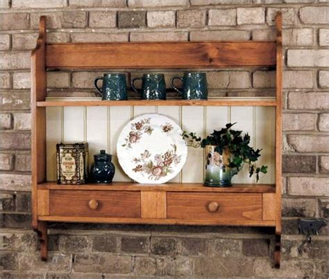 southern pine hanging plate rack  drawers american country