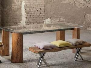 Banc Bois Massif : le bois massif devient un meuble plus que rustique ~ Teatrodelosmanantiales.com Idées de Décoration