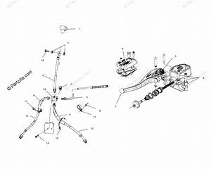 Polaris Atv 2002 Oem Parts Diagram For Controls Master Cylinder  Brake Line A02ch42aa