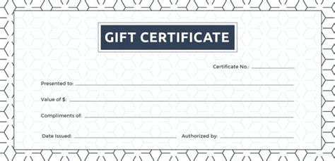 Blank Birthday Gift Certificate Template by Blank Gift Certificate Template 31 Exles In Pdf
