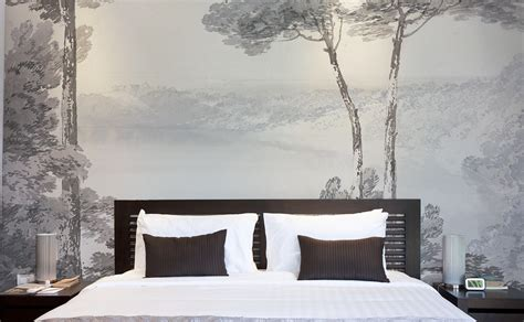 bed head wallpaper papiers de paris