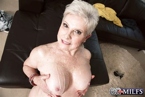 Short Haired Granny Gives Big Cock A Blowjob And Takes
