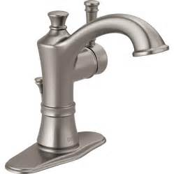 delta brushed nickel kitchen faucet shop delta valdosta spotshield brushed nickel 1 handle 4 in centerset watersense bathroom faucet