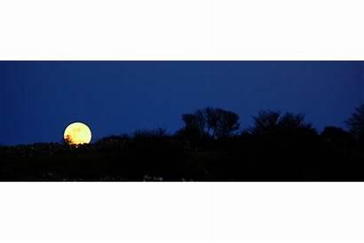 Silhouette Moon Night Sky Clipart Moonlit Getdrawings