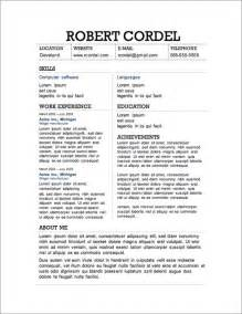 curriculum vitae template for word 2013 cv template word 2013 http webdesign14