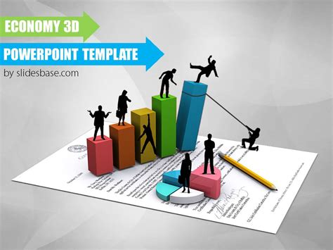 home design graph paper economy 3d powerpoint template slidesbase