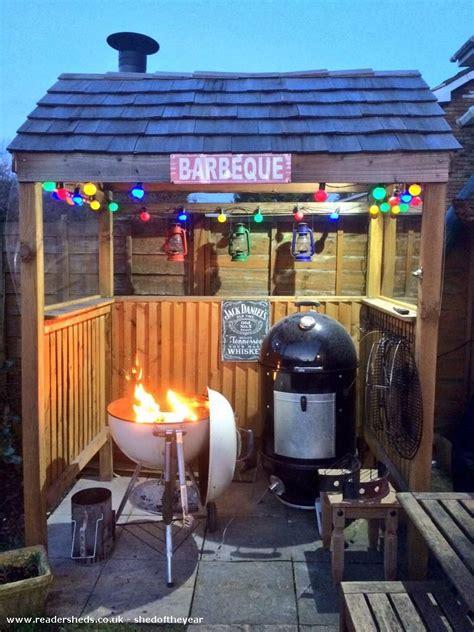 bbq shack unexpected  backyard patio shedoftheyear