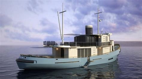 french navy tugboat le lutteur converted   superyacht