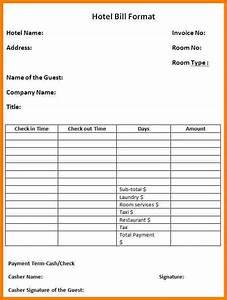 7 medical bill receipt format word sample travel bill