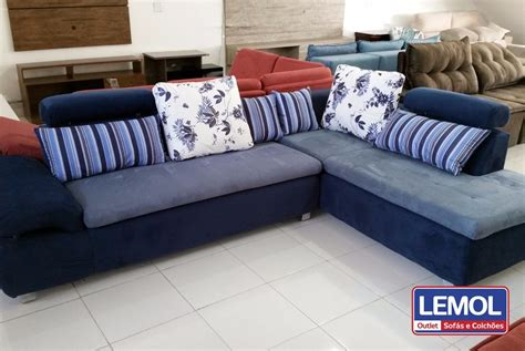 sofá encanto umaflex sof 225 conjunto de canto 2 e 3 lugares umaflex encanto em