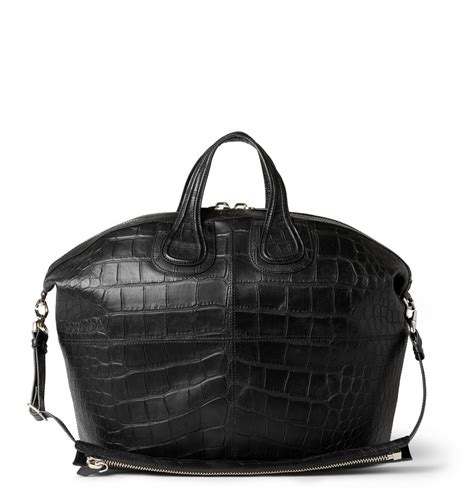 givenchy crocodile embossed leather nightingale tote bag  black  men lyst