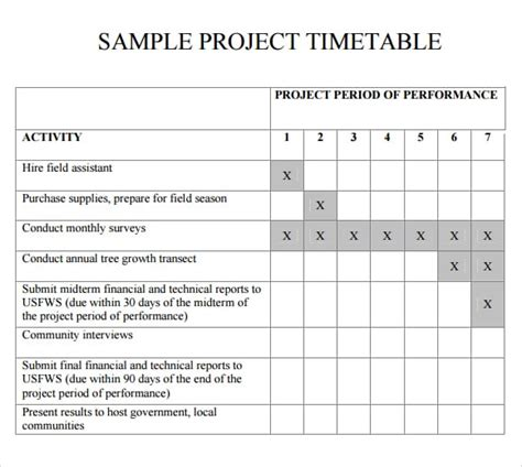 timetable templates fine word templates