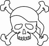 Coloring Pirate Skull Symbol Terrifying Sheet sketch template