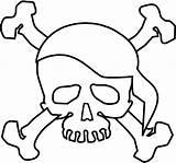 Coloring Pirate Skull Symbol Terrifying Sheet sketch template