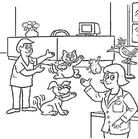 Kleurplaat Dierenarts by Kleurplaat Ziek 187 Animaatjes Nl