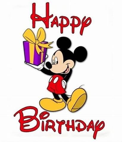 Clipart Birthday Disney Clip Happy Animated Cartoon