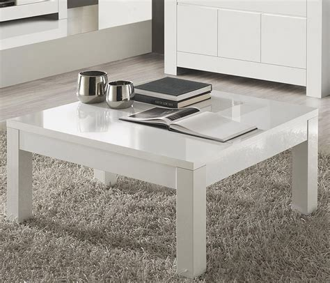 table basse blanche carree pour salon design
