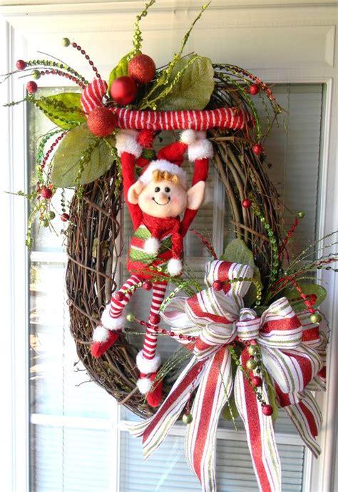 ideas decorar puerta navidad diy  decoracion de