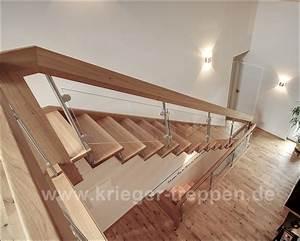 Treppe Mit Glasgeländer : freitragende treppen von krieger treppen ~ Sanjose-hotels-ca.com Haus und Dekorationen