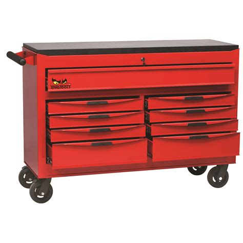 roller cabinet tool box teng tools tcw809n 53 quot 9 drawer 8 series roller cabinet