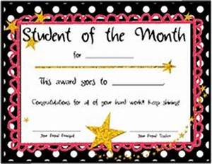certificate of recognition classic certificate student With star of the month certificate template