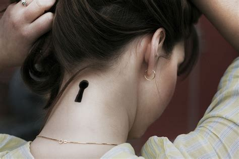 Keyhole Tattoo On Neck « Inked Inspiration. A Collection