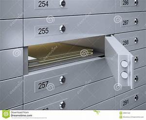 safety deposit boxes with documents stock photography With documents safety deposit box