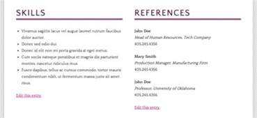 reference section on a resume how to build a r 233 sum 233 site using ithemes builder