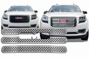 2013 2016 gmc acadia chrome grille insert overlay trim With gmc acadia grill letters