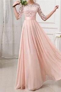 long bridesmaid dress lace bridesmaid dress cheap prom With long sleeve pink wedding dresses