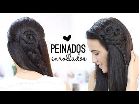 peinados bonitos  enrollados youtube