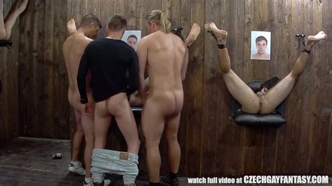 Czech Gay Fantasy Gay Glory Hole Orgy With Horny Czech