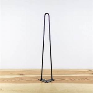 Pied De Table En épingle : hairpin legs et pied de table design en acier brut ~ Dailycaller-alerts.com Idées de Décoration