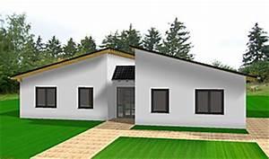 Bungalow Mit Pultdach : bungalow 157 mit pultdach einfamilienhaus neubau massivbau ~ Lizthompson.info Haus und Dekorationen