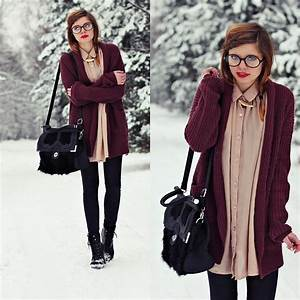 College Look Style : nesairah nesstyle bag glasses school winter look lookbook ~ Orissabook.com Haus und Dekorationen