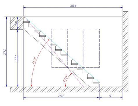 trace d un escalier conception d un escalier 224 limon central
