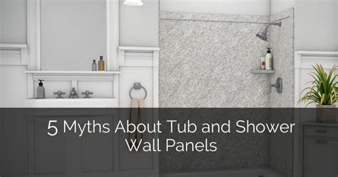 Family Kitchen Ideas - 5 myths about tub and shower wall panels home remodeling contractors sebring design build
