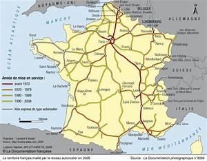 Reseau Autoroute France : le territoire fran ais maill par le r seau autoroutier en 2008 transports et r seaux cartes ~ Medecine-chirurgie-esthetiques.com Avis de Voitures