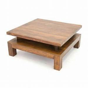 Table De Salon Bois : table basse en bois ~ Teatrodelosmanantiales.com Idées de Décoration