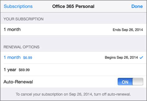 Office 365 Renewal by Change Auto Renew And Office 365 Subscription Options From
