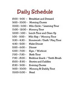 My Daily Schedule Printable