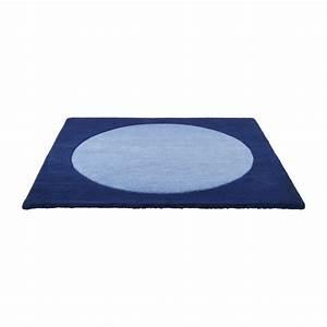 doti tapis bleu tissu habitat With tapis noué main