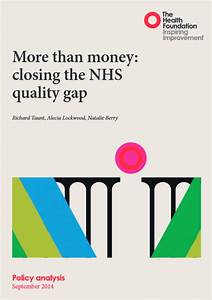 More Than Money  Closing The Nhs Quality Gap