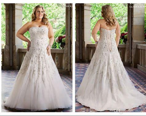 Wedding Dresses Plus Size : Discount Luxury Beaded Lace Plus Size Wedding Dresses 2016